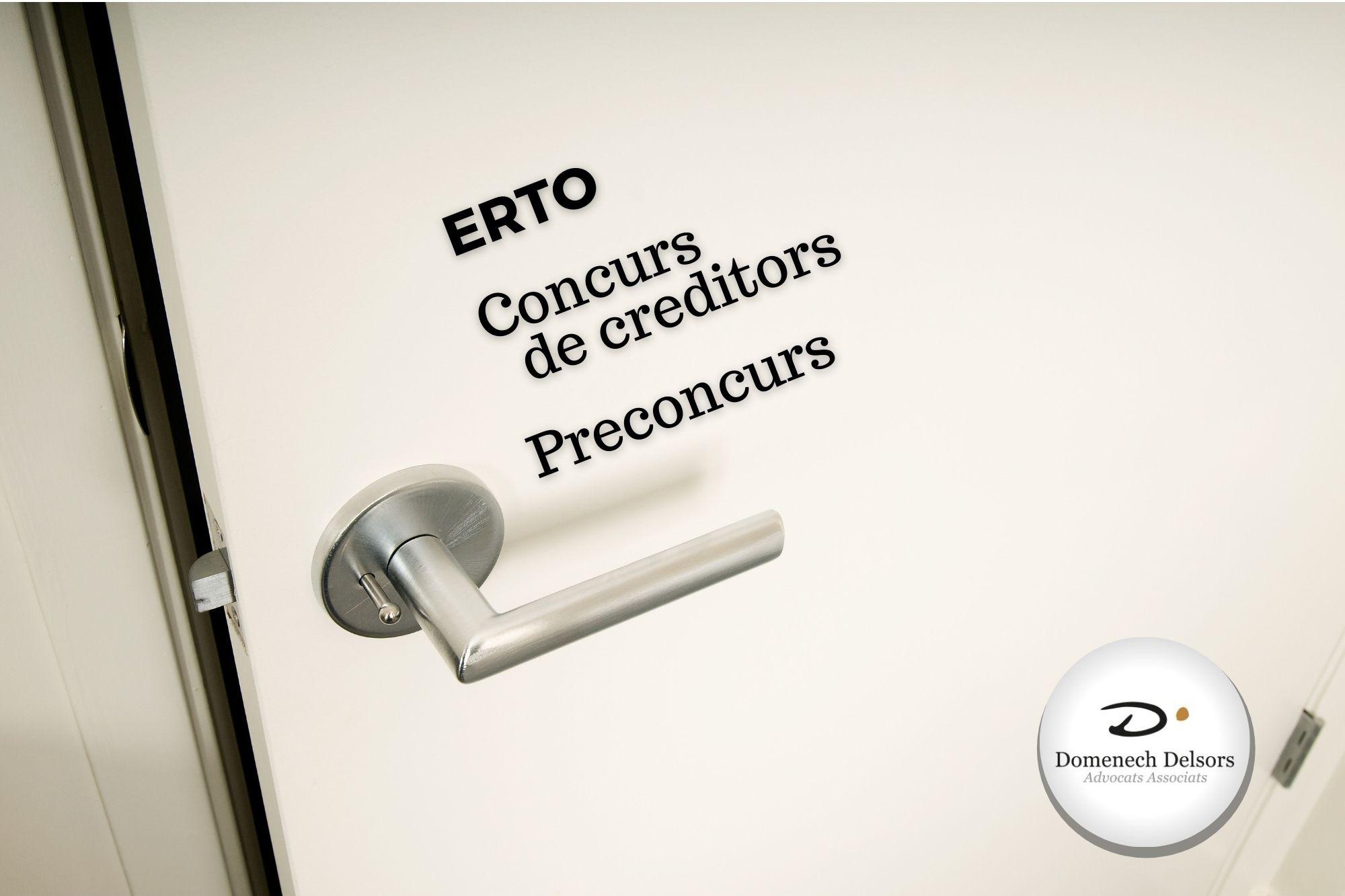 ERTO I Concurs De Creditors, Solucions Enfront De La Crisi De La Covid19